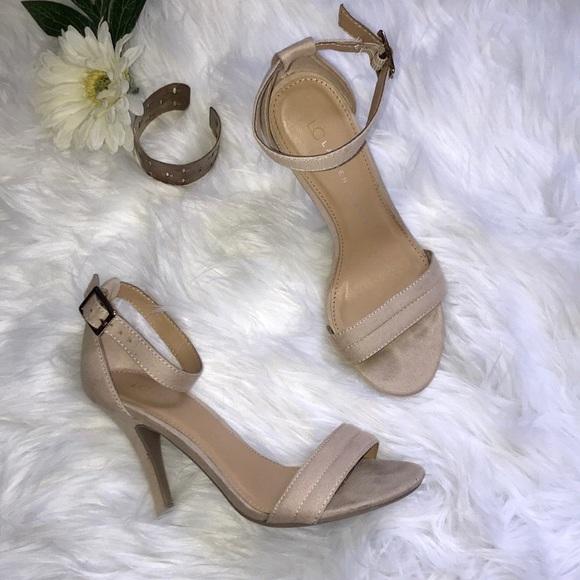 031b90b5137 LC Lauren Conrad Shoes - Lauren Conrad nude strappy heels